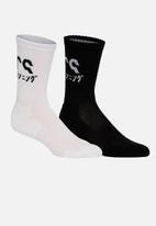 ASICS - 2ppk katakana sock - performance black/white