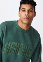 Factorie - Elite oversized crew - washed forest pine