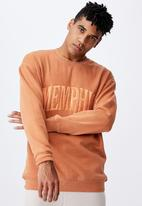 Factorie - Elite oversized crew - faded orange