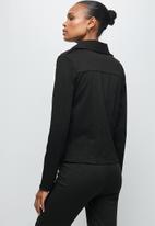edit - Ponti biker jacket - black