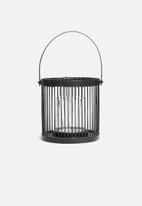 H&S - Bamboo lantern - black