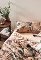 Linen House - Tillie duvet cover set - brandy
