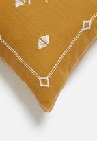 Sixth Floor - Kivet cushion cover - mustard