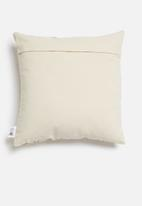 Sixth Floor - Lotti cushion cover - mustard & natural