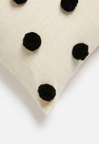 Sixth Floor - Talia cushion cover - charcoal & natural