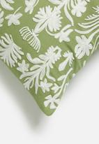 Sixth Floor - Entwine cushion cover - green & natural