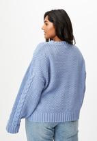 Cotton On - Curve chenille pullover - air blue