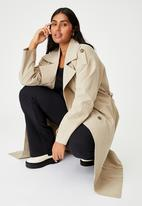 Cotton On - Curve oversized trench - taupe