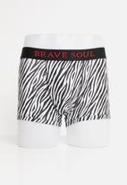 Brave Soul - Monotone underwear - white & black