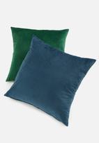 Sixth Floor - Lure cushion cover - peacock