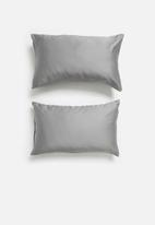 Sixth Floor - 100% bamboo super soft pillowcase set - grey
