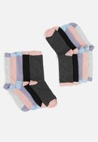 Brave Soul - 5 pack Taliac socks - lt grey/purple/black/dk grey/pink