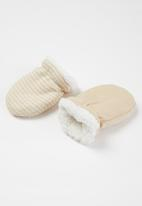 POP CANDY - 2 Pack mittons - beige