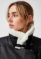 Cotton On - Shearling aviator - black & cream