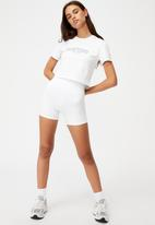 Factorie - Fitted graphic T-shirt - white