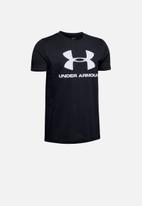 Under Armour - Ua boys sportstyle short sleeve tee - black & white