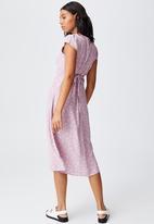 Cotton On - Woven cleo tie back midi dress - mauve