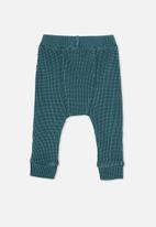 Cotton On - The waffle pant - teal