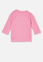 Cotton On - Jamie long sleeve tee - pink gerbera