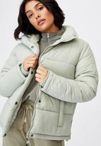 Cotton On - The recycled mother puffer - green haze