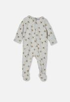 Cotton On - The long sleeve zip romper - grey