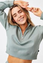 Cotton On - Lifestyle getting out half zip fleece - desert sage