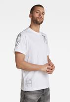 G-Star RAW - Multi object graphic r short sleeve tee - white
