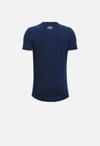 Under Armour - Ua boys sportstyle short sleeve tee - navy & white