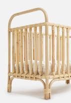 Sixth Floor - Dawn rattan cot with cushion - natural