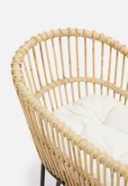 Sixth Floor - Luna rattan cot with foam cushion - natural