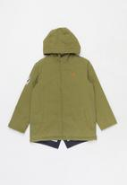 POLO - Boys carson long sleeve parka jacket - olive