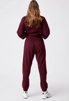 Cotton On - Lifestyle gym track pant - mulberry