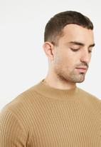 Brave Soul - Mutanti knitwear - tan