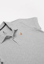 POLO - Boys Austin short sleeve golfer - grey
