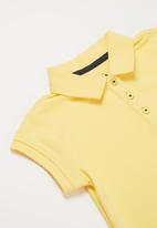 POLO - Girls Dakota short sleeve golfer dress - yellow