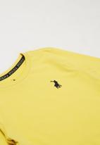 POLO - Boys Ashton long sleeve tee - yellow