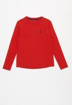 POLO - Girls Mia long sleeve tee - red