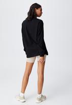 Cotton On - Basic oversized long sleeve top - black