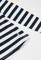 POLO - Ashley printed striped tee - navy & white