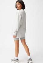 Cotton On - Basic oversized long sleeve top - light grey marle