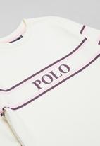 POLO - Terri long sleeve sweater dress - off white