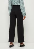 edit - Knit bootleg trousers - black