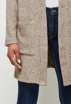 edit - Warm handle pocket detail shacket - mocha