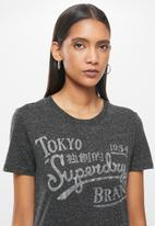 Superdry. - Rw classic tee - charcoal