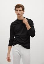 MANGO - T-shirt javi - black