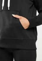 Under Armour - Rival fleece logo hoodie - black
