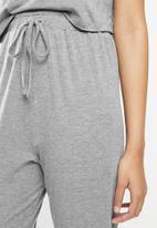 Blake - Short sleeve sleep set - grey
