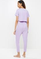 Blake - Short sleeve sleep set - lilac