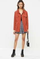Blake - Over shirt with patch pockets - rust