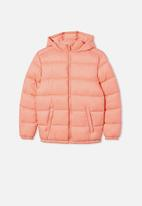 Free by Cotton On - Charlie puffer - musk melon